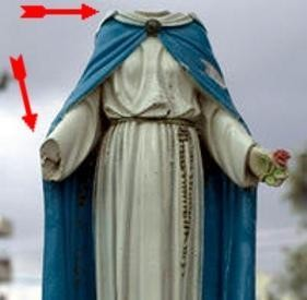 Statue de la Vierge vandalisée.JPG