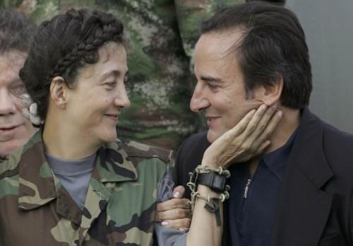 Betancourt et son second mari après sa libération en 2008.jpg
