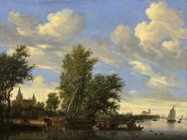 Salomon_van_Ruysdael_-_Rivierlandschap_met_veerpont_(1649).jpg