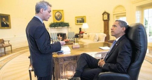 Rahm Emanuel et Obama à la MB 22 janv.jpg