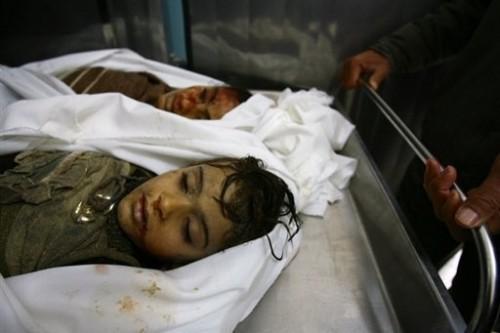 Gaza enfants à la morgue.jpg