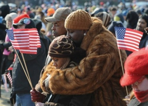 Obama supporters noirs à W 20 janv 09.jpg