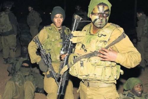 Israël Soldats maquillés de noir.jpg