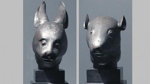 Bronzes chinois Le lapin et la rat.jpg