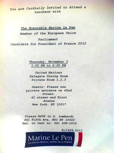 Invitation-explicite-Marine-Le-Pen-Ron-Prosor-Israel-ONU-USA-2011.jpg
