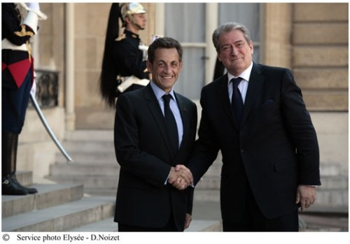 Albanie Sarkozy et Sali Berisha.jpg