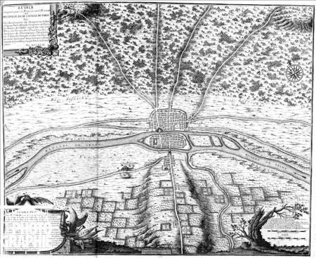 Lutèce plan en 508 - Clovis Ier en fait sa capitale.jpg