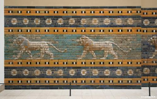 Babylone voie processionnelle Lions musée de pergame.jpg