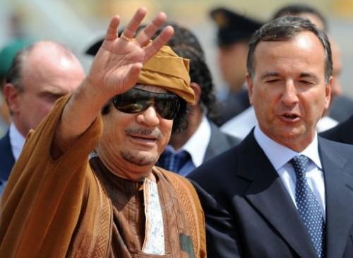 Mouammar Kadhafi et franco Frattini.jpg