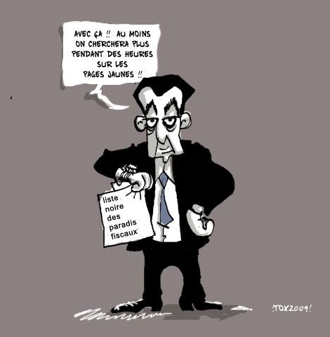 Dessin humour Sarközy et la liste des paradis fiscaux.jpg