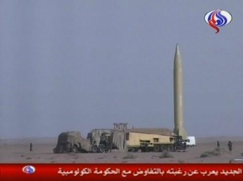 Iran missile à longue portée de tir dans le désert iranien.jpg