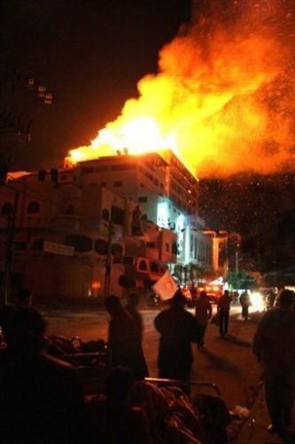 GAZA Hôpital en feu 16 janv.09.jpg