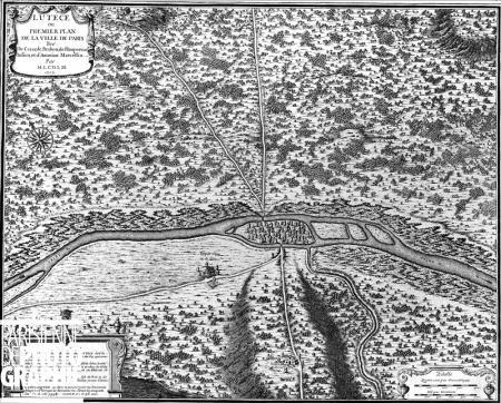 Lutèce plan de la cité - gravure Nicolas de fer 1705.jpg