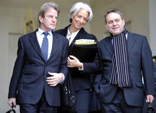 Kouchner, Lagarde, X Bertrand le 19 décembre 08.jpg