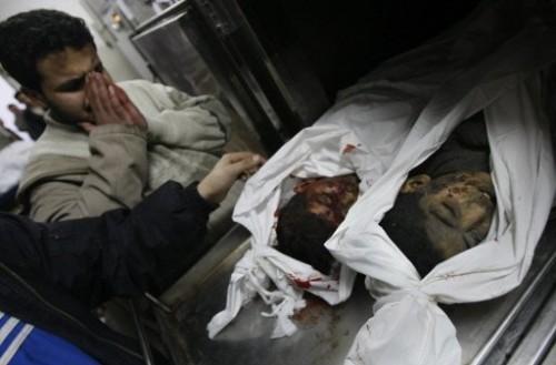 Morgue de Gaza 5 janvier 09.jpg
