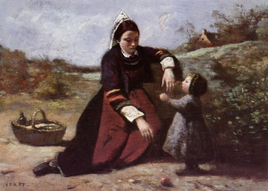 1024px-Jean-Baptist_Camille_Corot_Breton_Woman_With_Her_Little_Girl.jpg