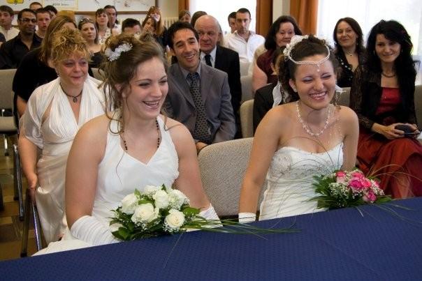 Photos de mariée lesbienne