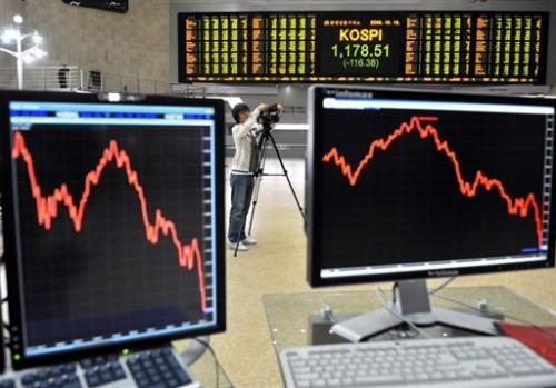 Tableaux des cotations à la Bourse de Séoul.jpg