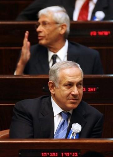 Netanyahu à la Knesset -lippus.jpg