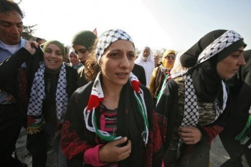 Palestiniennes libérées 2 oct 09 Bethléem.jpg