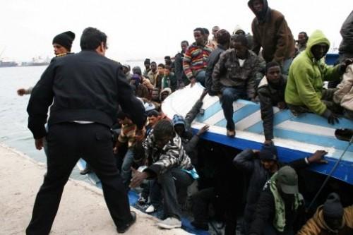 Africains migrand naufragés Libye.jpg