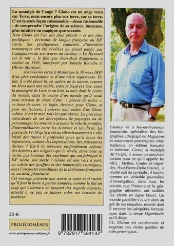 Jean Giono - La nostalgie de l'ange - Pierre-Emile Blairon - Editions Prolégomènes - 2009 (verso) dos.JPG